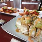 Fish Nacho and Yellow-fin Tuna Roll
