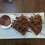Chocolate waffles at Tea Villa
