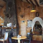 Rustic interior; great meal and service; large portions.