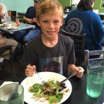 Lunch with my 10 year old nephew!