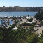 Looking down on RV park and Marina from HWY 1