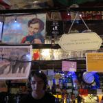 Quirky signs above the bar
