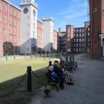 Boott Mill Courtyard near museum