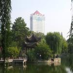 hotel from lotus pond park