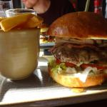Burger with a bit of extra bacon at The Highwayman Berkhamsted