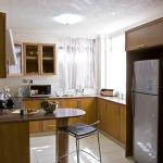 The two bedroom apartment kitchen