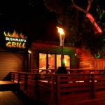 Bushman's Grill at night