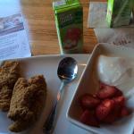 Kids chicken tender meal with juice at applebees