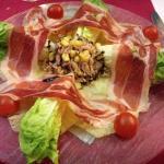 Ham, tuna and salad