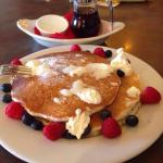 Half Stack of Pancakes with Fresh berries! Mmmm, 3 times!!!
