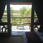 View from the bedroom upstairs overlooking the Kruger Park and the Crocodile river