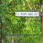 The name of the street next to the hotel - the odd poplars