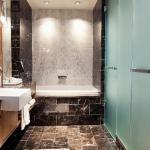 Loden Bathroom - Deep Soaker Tub and Walk-in Rainf