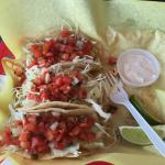 Fish tacos with very fresh grilled fish