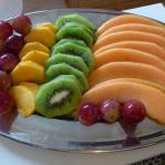 Obstteller für Vegetarier
