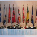 Head Table Setting for Mess Dinner