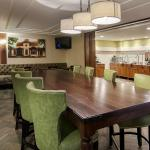 Best Western Plus New Ulm Lobby Lounge and complimentary breakfast seating.
