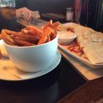 Yam fries and quesadilla