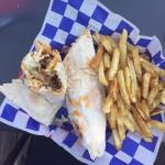 BBQ Pulled Pork Wrap & Fries
