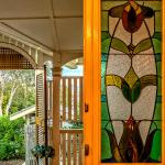 Vintage features: stained glass