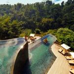 The world's best swimming pools at Hanging Gardens Ubud, Bali, Indonesia