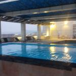 newly completed roof top swim pool