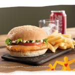 Nando's Chicken Burger with Chips