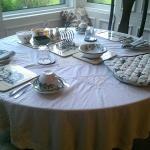 Table setting @ Dunns Farmhouse B&B