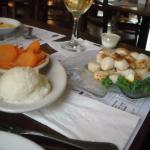 The sea scallops & mashed potatoes