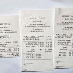 Rechnung für Suppe , Steinbutt u. Jägerschnitzel