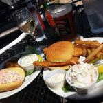 Lobster roll & flounder sandwich