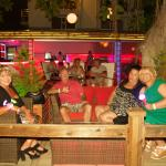 Hotel front bar area at night