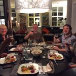 Lovely Dinner with Pia and Marius (Huset B&B owner) at Huset B&B. Thank you :)