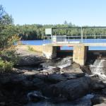 Dam on the Ahmic Lake Resort property