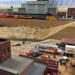 Miniatur-Wunderland in Hamburg / Las Vegas Bahnhof