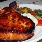 Pork Chop with Tequila Glaze