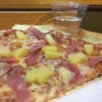 Hawaiian pizza by the slice - yum!