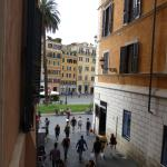 View from window to Spagna square
