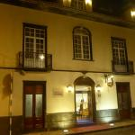 Hotel Camoes entrance at night