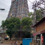 meenakshi temple view from outside the hotel