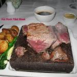 Huge FILLET steak on Hot Rock