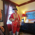 Town Crier at breakfast