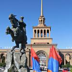 The main railway station in Yerevan (5 minutes' walk from the hotel)