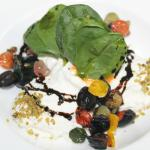 Burrata Cheese with Caponata Vegetables