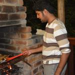 Gihan Doing a Braai