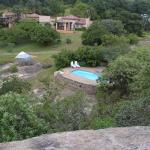 The House from the top of a nearby tall rock,