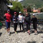 Prosecco on the beach at Villa del Balbianello with Bellagio Water Sports Kayak Club
