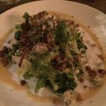Salad with blue and pecans!