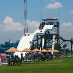 The largest slide structure. It closes at 4:30pm.
