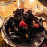 Steamed mussels appetizer. Awesome!